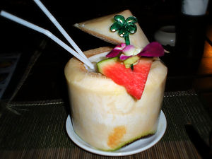 coconut cocktail, thailand