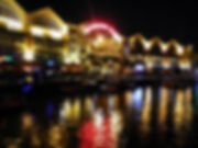 Singapore, river, lights, Clarke quay