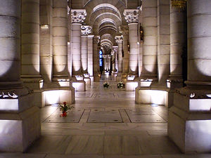 crypt, catedral de almudena, madrid, spain