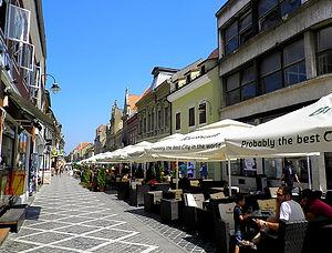 Republicii street, Brașov, romania