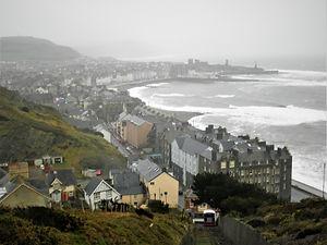 Aberystwyth, wales, coast, sea