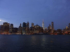 sunset, skyline, new york city