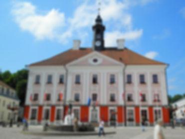 Raekoja plats and town hall, tartu, estonia