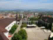 ljubljana, slovenia, view, castle