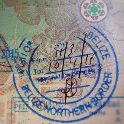 passport stamp belize