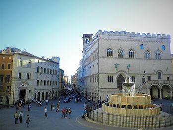 Piazza IV Novembre, perugia, italy, fountain