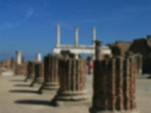 pompeii, italy, ruins, basilica