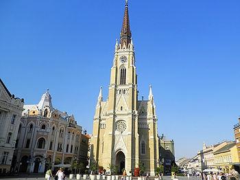 Catholic cathedral, novi sad, serbia