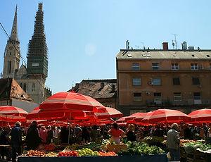 zagreb, croatia, market