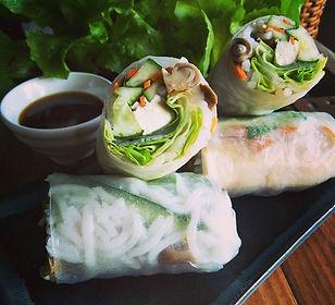 saigon, ho chi minh city, vietnam, food, spring rolls