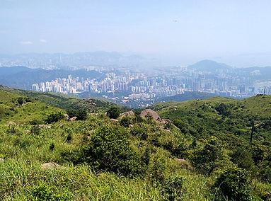hiking, trail, hong kong, mountain, view, maclehose, scenery, tai mo shan