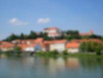ptuj, slovenia, view, castle
