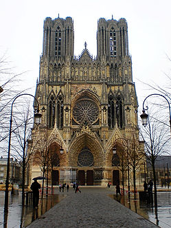 cathedral notre dame, reims, france