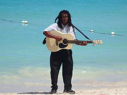 Bob Marley busker, negril, beach, jamaica