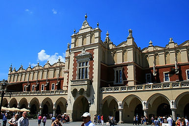 town hall, market square, krakow, poland
