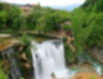 jajce, bosnia, waterfall