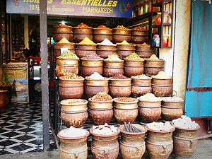 souk, spices, marrakesh, morocco