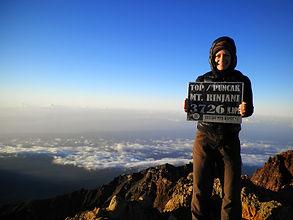 Mt Rinjani volcano trek Lombok Indonesia summit