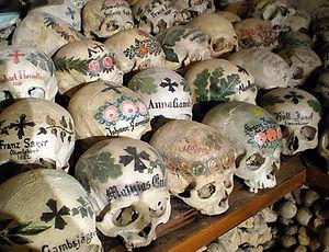 hallstatt, austria, skulls, bones, chapel