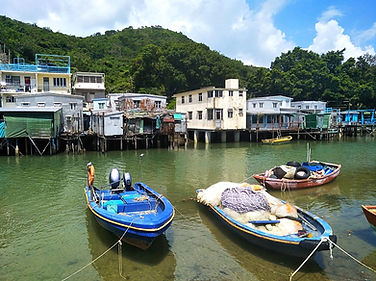hong kong, trail, mountain, hiking, view, lantau, tung o ancient walk, tai o, boat, stilt house