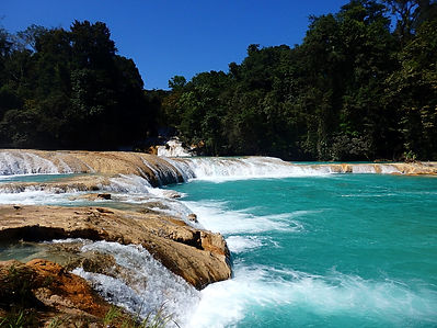 agua azul mexico waterfall