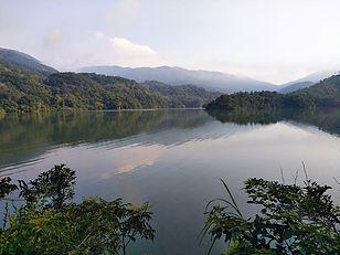 wilson trail, hong kong, hiking, view, mountains, reservoir, water