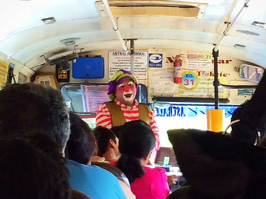 clown chicken bus el salvador