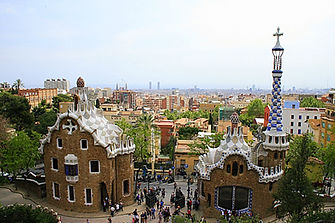 spain, barcelona, parc guell, gaudi