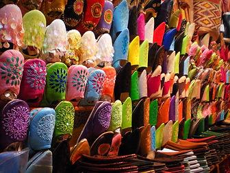 fez, morocco, medina, slippers