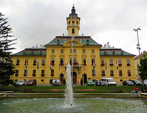 Town Hall, fountain, szeged, hungary