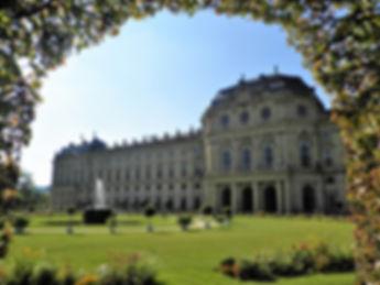 Residenz, gardens, wurzburg, germany