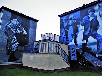 Bogside murals, derry, northern ireland