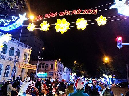 saigon, ho chi minh city, vietnam, tet, happy new year