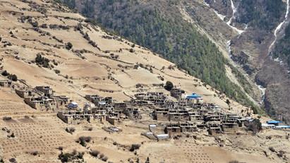 Village on the hillside