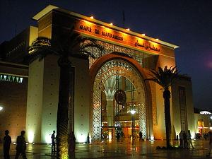 marrakesh train station, morocco