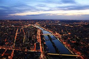 eiffel tower view, paris, night, france