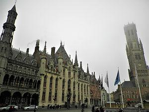 Provincial palace, belfry, bruges, belgium