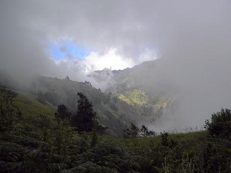 Mt Rinjani volcano trek Lombok Indonesia