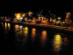 river, nis, serbia, night