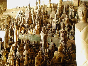 buddha, pak ou caves, luang prabang, laos