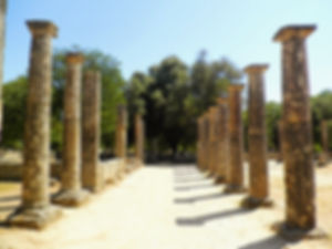 Palaestra, olympia, greece, ruins