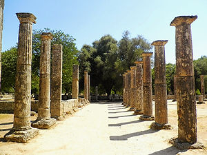 Palaestra, olympia, greece, ruins