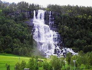 norway, waterfall
