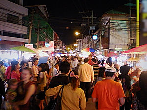 saturday market, chiang mai, thailand