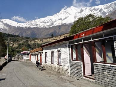 Decent village backdrop