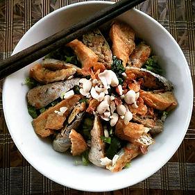 saigon, ho chi minh city, vietnam, food, bun cha, noodles, spring rolls