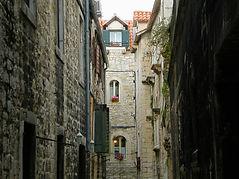 split, croatia, lanes, alleys