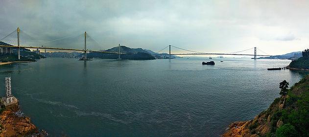 hong kong, trail, mountain, hiking, view, tai lam, new territories, harbour, water, bridge