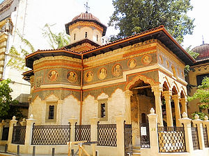 Stavropoleus monastery, church, bucharest, romania