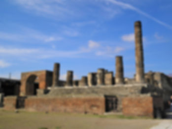 Temple of Jupiter, pompeii, italy, ruins